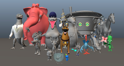 3d_characters_collection1: Modeling, rigging | fancyart3d