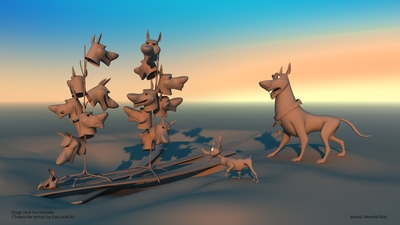 Dogs and facemasks | fancyart3d